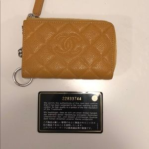 CHANEL Accessories - Chanel card holder with keychain